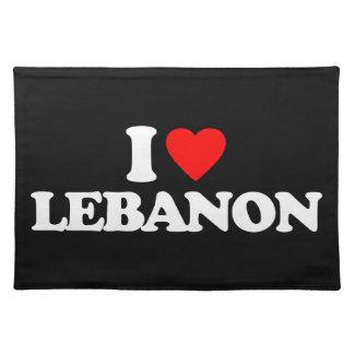 I LOVE LEBANON PLACE MAT