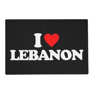 I LOVE LEBANON PLACEMAT