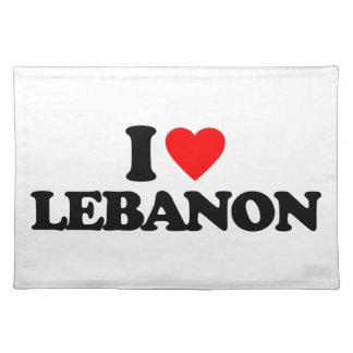 I LOVE LEBANON PLACE MATS