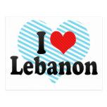 I Love Lebanon Postcard