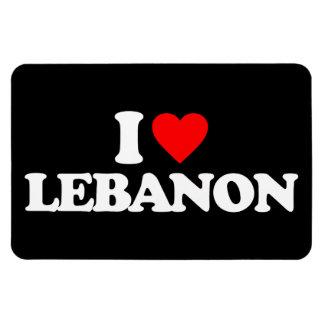 I LOVE LEBANON RECTANGULAR MAGNET