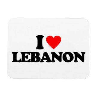 I LOVE LEBANON VINYL MAGNET