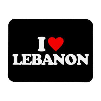 I LOVE LEBANON VINYL MAGNETS