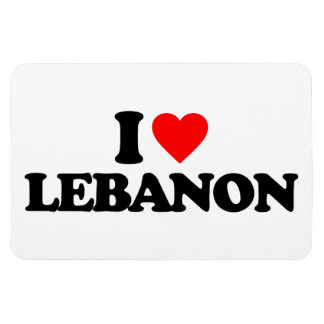 I LOVE LEBANON RECTANGULAR MAGNETS