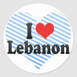 I Love Lebanon Round Stickers