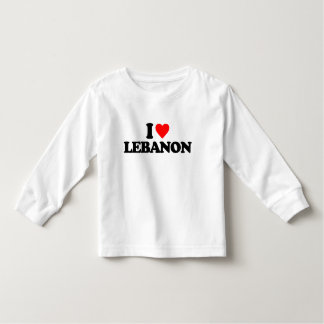 I LOVE LEBANON TODDLER T-SHIRT