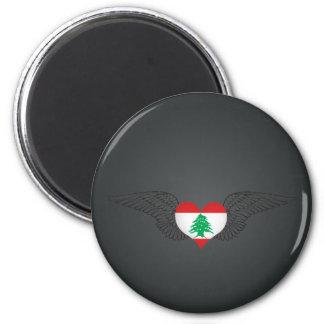 I Love Lebanon -wings Fridge Magnet