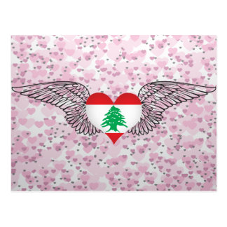 I Love Lebanon -wings Post Card