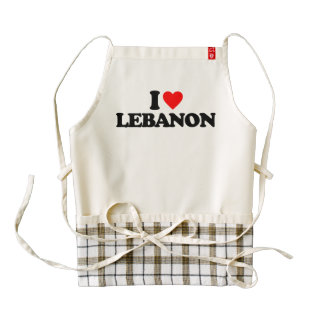 I LOVE LEBANON ZAZZLE HEART APRON