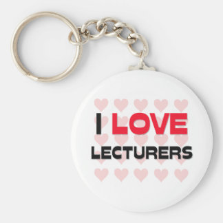I LOVE LECTURERS KEYCHAINS
