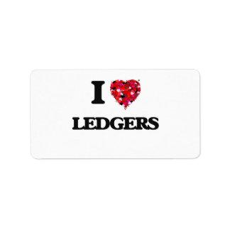 I Love Ledgers Address Label