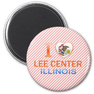 I Love Lee Center, IL Refrigerator Magnet
