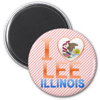 I Love Lee, IL Refrigerator Magnet