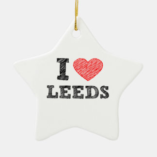 I-love-Leeds Ceramic Ornament