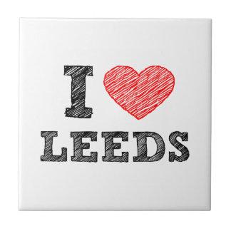 I-love-Leeds Ceramic Tile
