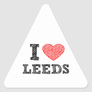 I-love-Leeds Triangle Sticker