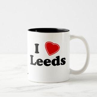 I Love Leeds Two-Tone Coffee Mug