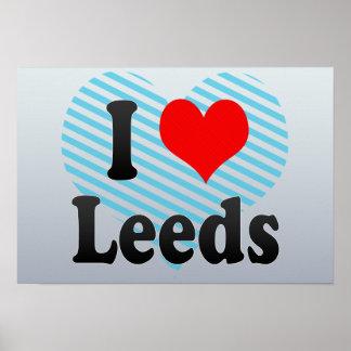 I Love Leeds, United Kingdom Poster