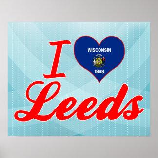 I Love Leeds, Wisconsin Posters