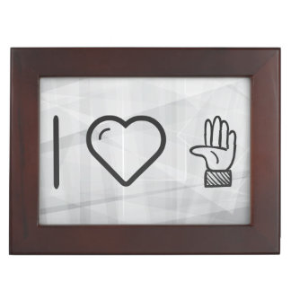 I Love Left Hands Memory Boxes