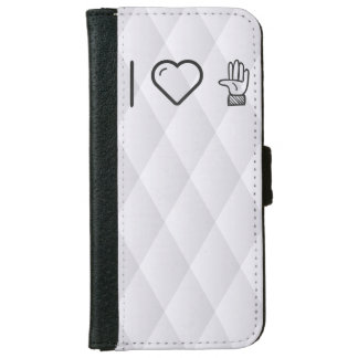I Love Left Hands Wallet Phone Case For iPhone 6/6s