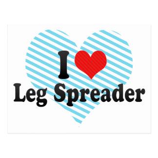 I Love Leg Spreader Postcard
