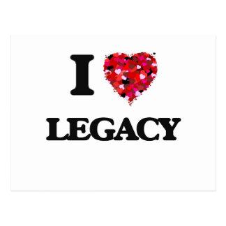I Love Legacy Postcard