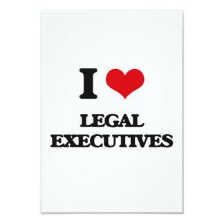 I love Legal Executives 3.5x5 Paper Invitation Card