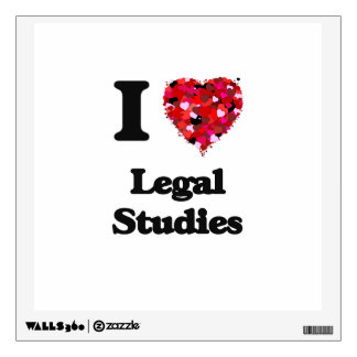 I Love Legal Studies Room Decal