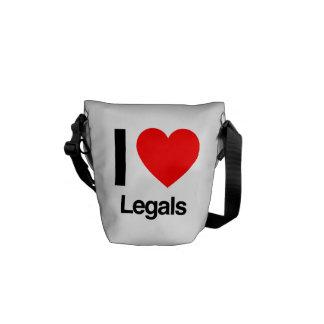 i love legals courier bag