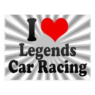 I love Legends Car Racing Postcard