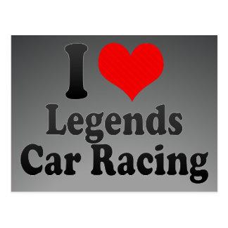 I love Legends Car Racing Postcards