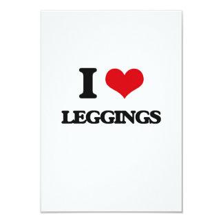 "I Love Leggings 3.5"" X 5"" Invitation Card"