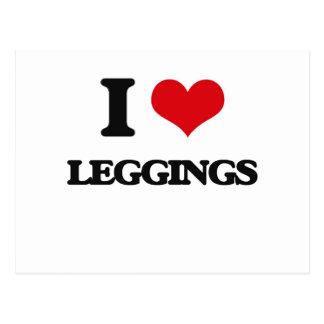 I Love Leggings Postcard