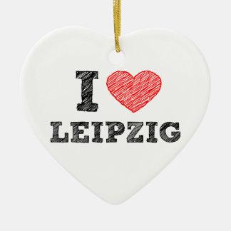 I-love-Leipzig Ceramic Ornament
