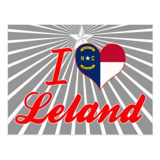 I Love Leland, North Carolina Postcard