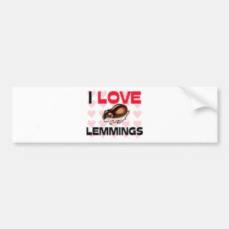 I Love Lemmings Bumper Sticker