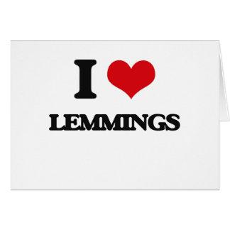 I love Lemmings Greeting Card
