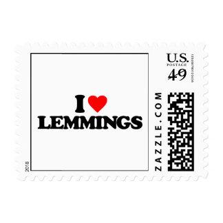 I LOVE LEMMINGS STAMPS