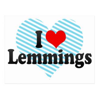 I Love Lemmings Post Cards