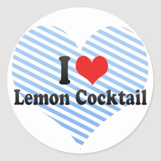 I Love Lemon Cocktail Round Stickers