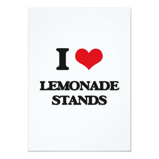 I love Lemonade Stands 5x7 Paper Invitation Card