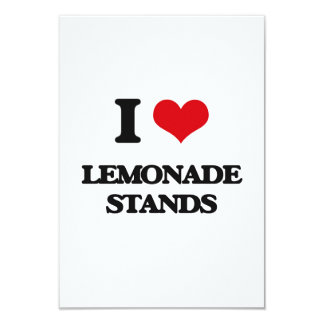 I love Lemonade Stands 3.5x5 Paper Invitation Card