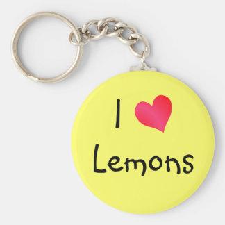 I Love Lemons Keychain