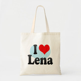 I love Lena Tote Bag