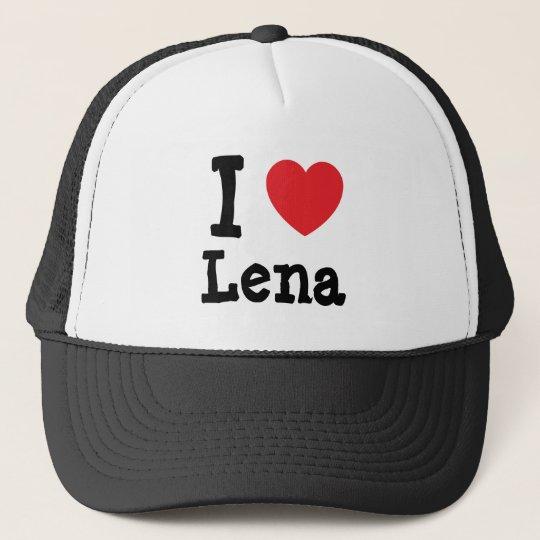 I love Lena heart T-Shirt Trucker Hat