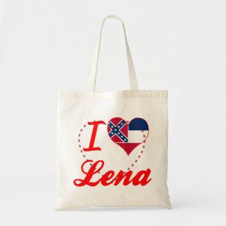 I Love Lena, Mississippi Canvas Bag