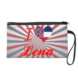 I Love Lena, Mississippi Wristlet Clutch