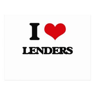 I Love Lenders Post Cards