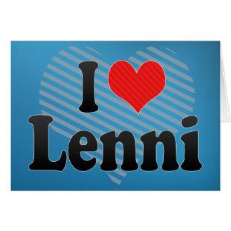 I Love Lenni Greeting Card